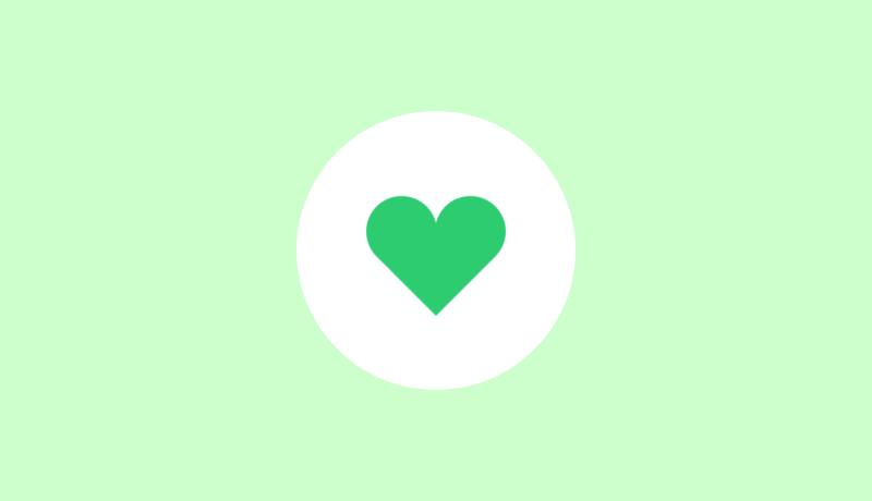 緑のハートマークのライク(Like)