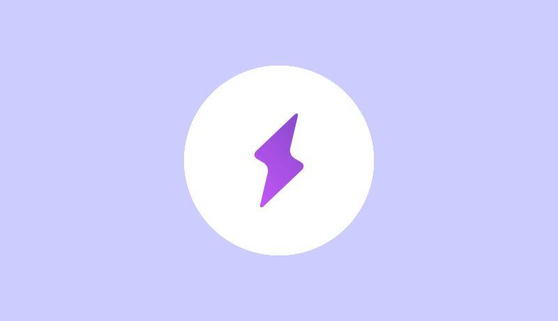 紫の雷マークのブースト