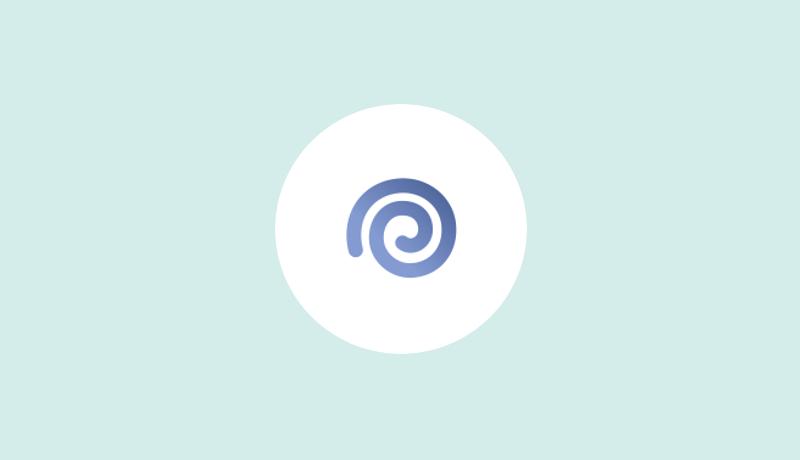 青色の渦巻きマークのイマイチ